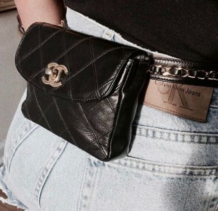 A quilted Chanel belt bag