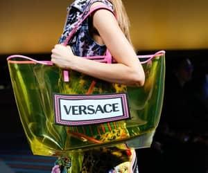 A transparent Versace shopper / tote