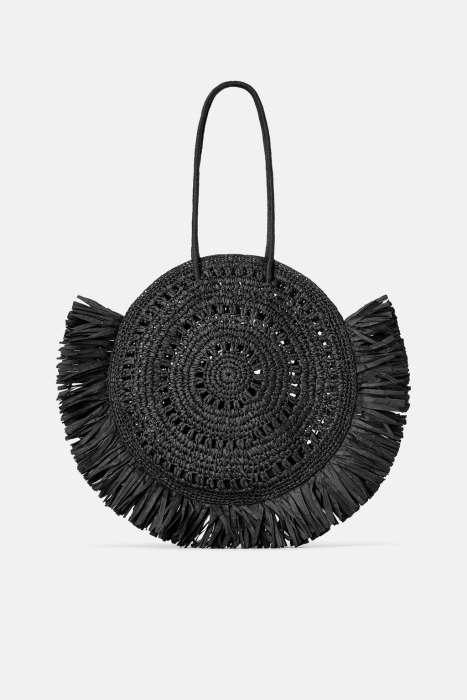 A woven shopper/tote bag