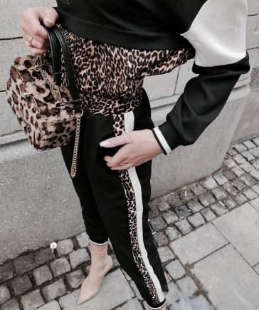 Animal print clutch and shirt