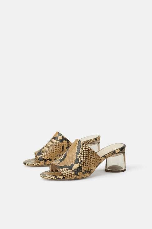Animal printed mules from Zara