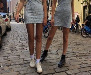 summer skirts paired with boots (right) and sneakers (left)