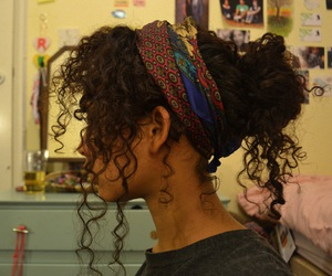 a hair scarf wrapped as a head band